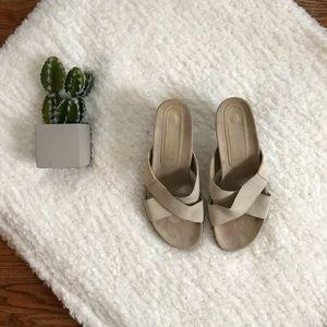 Donald J Pliner Beige FEMY Wedge Sandals